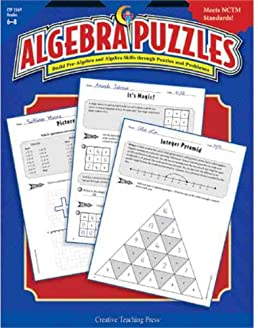 math worksheet : algebra puzzles gr 6 8 hank garcia 9781591982333 amazon  books : Algebra Puzzles