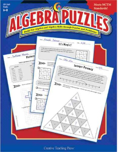 Read Online Algebra Puzzles Gr. 6-8 ebook