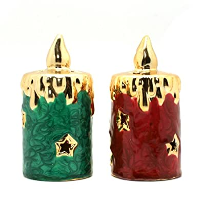 TII Collections Christmas Candles LED Light: Comes In Set Of 2 LED Candles - Lights Up!