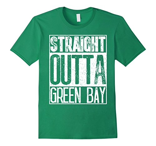 Mens Straight Outta Green Bay T-Shirt Cool Women Or Mens Gift Tee 3XL Kelly Green (Cool Onesies For Men)