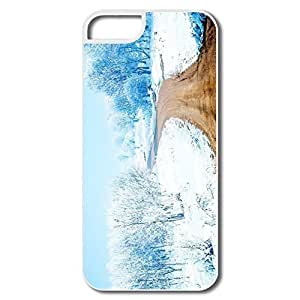 IPhone 5 5S Case, Snow Path White Cases For IPhone 5S