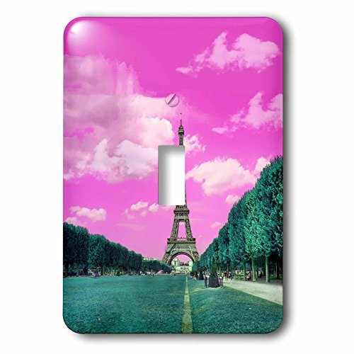 3dRose lsp_276315_1 Surreal Digital Art of Eiffel Tower in Paris Toggle Switch, Mixed by 3dRose