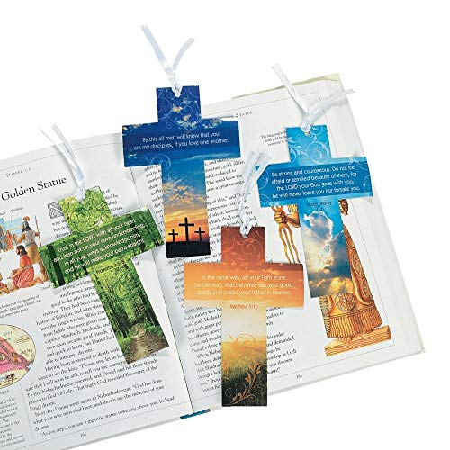 Religious Cross Bookmark w/ Live Photography 24 Pack