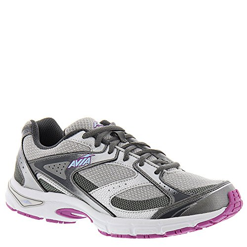 Avia Women's Avi-Execute Steel Grey/Chrome Silver/Spring Orchid/Skyway Blue/Iron Grey Athletic Shoe