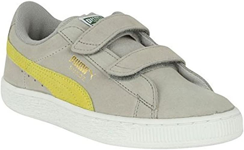 Puma Kids Suede 2 Strap Trainers Boys Sport Shoes Velcro ...