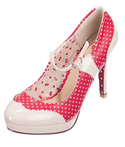 Rockabilly Pumps Kleidertanztage Nude Vintage 50er Jahre Betty Heels Verbotene Red pPvqRnn