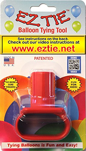 EZ Tie - Balloon Tying Tool for Party Balloons- Partys Supplies - Works for Helium Balloons with Ribbon - Makes Balloon Arches