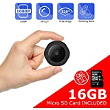 Mini Spy Hidden Camera, Vaculim 1080P Portable Small HD Nanny Cam with 16GB SD Card