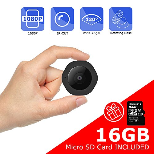 Mini Spy Hidden Camera, Vaculim 1080P Portable Small HD Nanny Cam 16GB SD Card