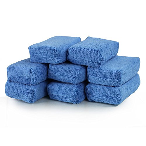 NUMBERNINE,Car Cleaning Sponge Cloths Car Cleaning Cloths Car Wax Polishing Pad Car Detailing Microfiber Applicators (Pack of 8),Car - Sunglasses Snare