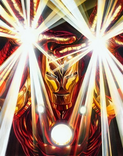 Marvel Visions: Iron Man Canvas Signed by Alex Ross Framed Fine Art Canvas