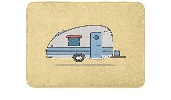 JoneAJ Red Camper Vintage Camping Car Caravan for Rest ...