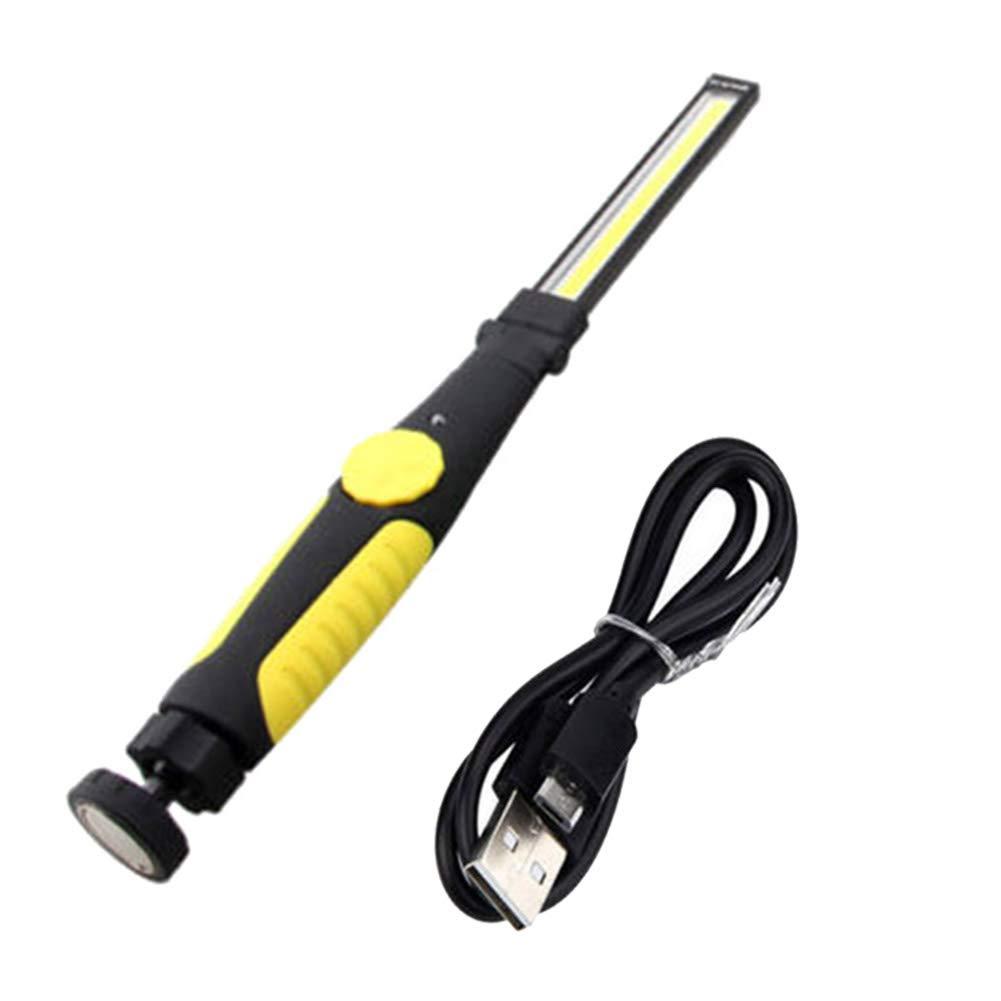 Multifunzione/Ricaricabile COB/Lavoro/Luce Allaperto/Campeggio Lampada Torcia Elettrica Rosso Ebestus Torcia LED Ricaricabili USB