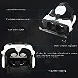 VR Headset, ELEGIANT 3D VR Glasses, Virtual Reality Headset Built-in Headphone with Remote Control, Compatible with iPhone 6 / 6s /6 Plus/5s/5 Samsung S7/S6 and Other 4.0-6.0 Smartphones