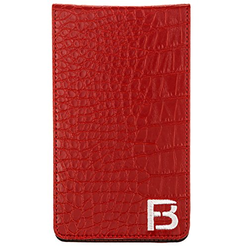 Fuzzy Bunkers Golf Scorecard Holder and Yardage Book Cover PLUS Free Golf Pencil and Downloadable PDF Stat Tracker Sheet by (Red) by VEBE (Image #4)
