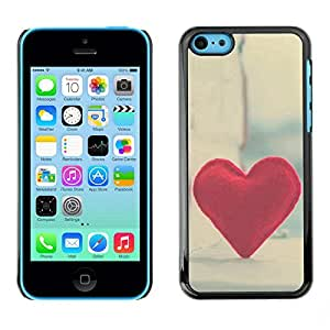 LECELL -- Funda protectora / Cubierta / Piel For Apple iPhone 5C -- Love Hipster Heart --