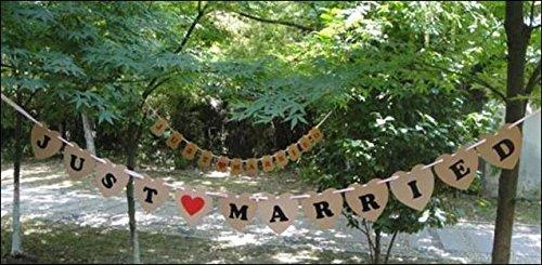 포토 사진 소품 스 하트 플레이트 (JUST MARRIED) / (HAPPY WEDING) BROWN 결혼식 이차 생일 파티 사진 소품 화환 (JUST MARRIED)