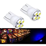 PA 25PCS #555 T10 4SMD LED Pinball Machine Light Bulb Blue-6.3V