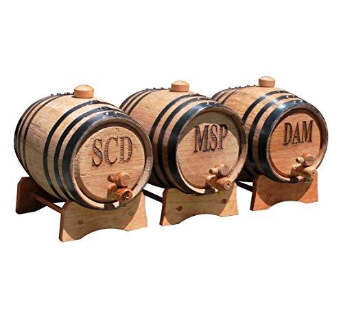 Personalized 1 Liter Oak Whiskey Barrel ()