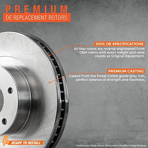 Max Brakes Premium OE Rotors SY135741 Front