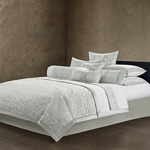 Natori Madame Ning Coverlet, Gray, Queen