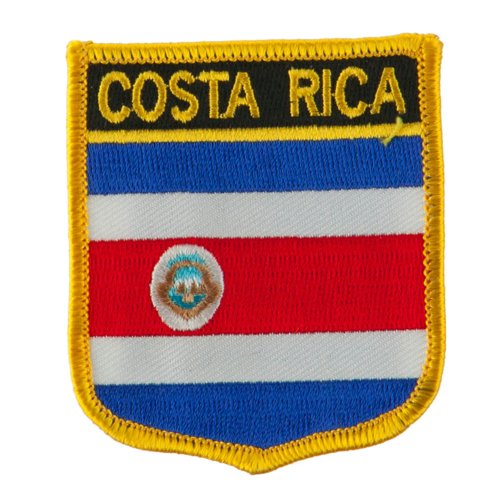 (North and South America Flag Embroidered Patch Shield - Costa Rica OSFM)