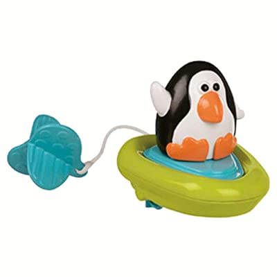 Baby Gift Bathing Boat Animal Toys Infant Kids Children Swimming Pool Pull Toy(black): Garden & Outdoor