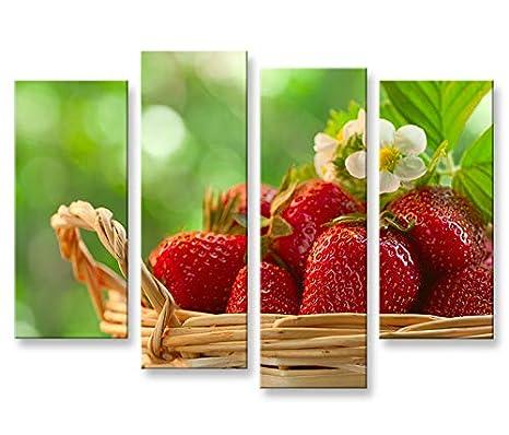 Quadro moderno fresas Cocina Lavabo 4P Impresión sobre ...