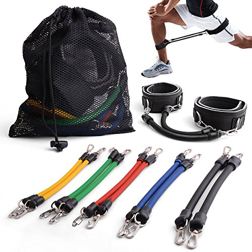 Leg Resistance Bands, CCJK Strength and Speed Bands for Athletic Leg Ankle Muscle Agility Acceleration Power Training, Lateral Workout Sport Bands for Running/ Football/ Soccer/ Boxing/ (Lateral Power Trainer)