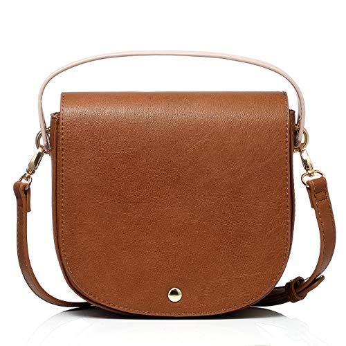 (Dede Dive Saddle Bag Shoulder Bags Purse Crossbody Bag for Women (Brown))
