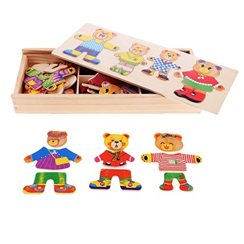 bear family dress up puzzle - 7
