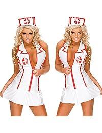 SYNN Women's Naughty Uniform Sexy Nurse Costume Lingerie
