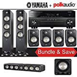 Polk Audio Signature S60 7.1-Ch Home Theater Speaker System with Yamaha AVENTAGE RX-A880BL 7.2-Channel 4K Network A/V Receiver
