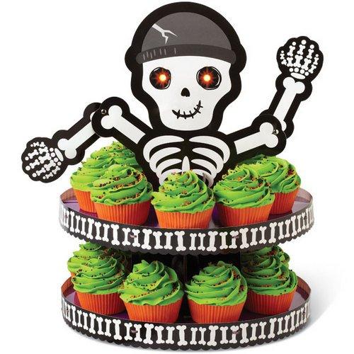 Wilton 1512-0858 Halloween Skeleton Treat Stand, 1 Count