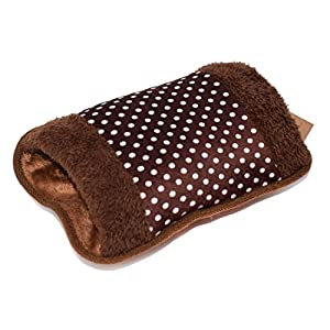 WITERY Hand Warmer - Portable Rechargeable Electric Heat / Hot Water Bag with Soft Velvet Cover - Ideal For Warm Your Hands / Pain Relief / Muscle Relaxation & Comfort Use and As Pillow Coffee