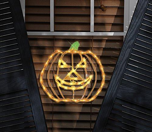 Outdoor Lighted Jack O Lanterns - 6