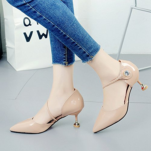 Inconnu Chaussures Femme Escarpin Bride Cheville Pointu Pumps Talon Aiguille Moyen Élégant Sandales Rose 7es06EoZ