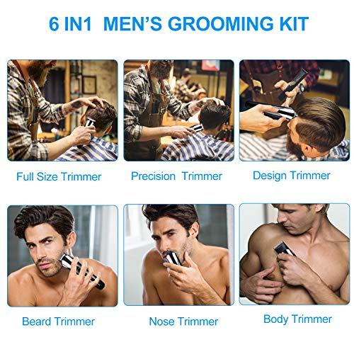 Cortapelos Profesional Hombre, Cortador Pelo Cortadora de Pelo Recargable Máquina Afeitar Recortadora de Barba/Cara…