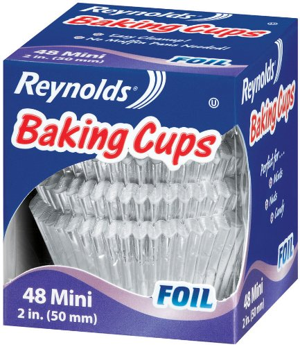 Reynolds Baking Cups, Mini Foil, 48-Count (Pack of 24) (Reynolds Baking Cups Mini Foil 48 Count)