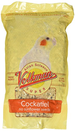 Volkman Seed Avian Science Super Cockatiel No Sunflower 2lb Avian Cockatiel Bird Seed