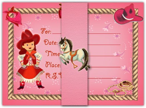 Western Cowgirl Themed Birthday Party Supplies Decoration Ideas – Cowgirl Party Invites