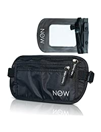 Hidden RFID Travel Money Belt + Phone Pouch. Passport Holder, Wallet, Waist Pack