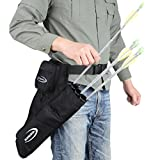 #6: XTACER 3 Tube Hip Quiver Hunting Training Camo Archery Arrow Quiver Holder Bow Belt Waist hanged Target Quiver