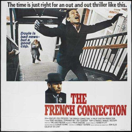 The French Connection POSTER Movie (1971) Style A 30 x 30 Inches - 77cm x 77cm (Gene Hackman)(Roy Scheider)(Fernando Rey)(Tony LoBianco)(Eddie Egan)(Sonny Grosso)(Marcel Bozzuffi)