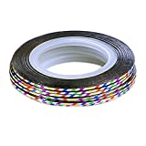 10Pcs Rolls Striping Tape Line Nail Art Tips Decoration Sticker, Colorful