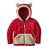 Patagonia Baby Furry Friends Hoody - Baby Girl - Classic Red - 12-18 Months