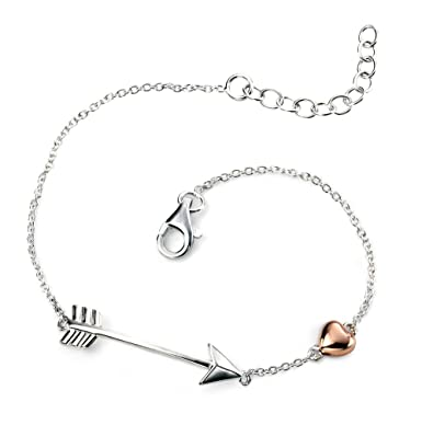 bracelet charm palas arrow silver toggle jewellery