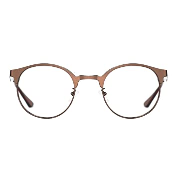 58f30bbd60f TIJN New Round Designer Metal Eyeglasses Frames with Clear Lens ...