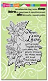Stampendous CRR265  Cling Rubber Stamp, Those We