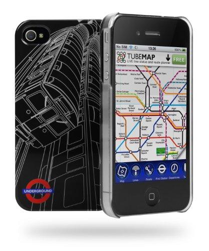 Cygnett TFL Tube Train Schutzschale für iPhone 4S (inkl. Display-Schutzfolie)